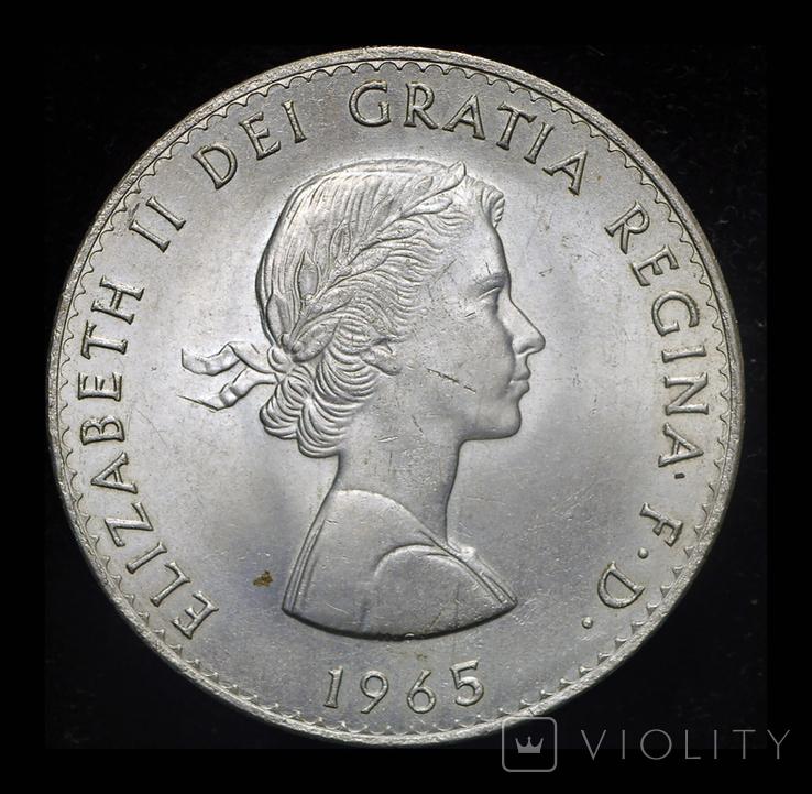 Великобритания крона 1965  Черчиль, фото №3