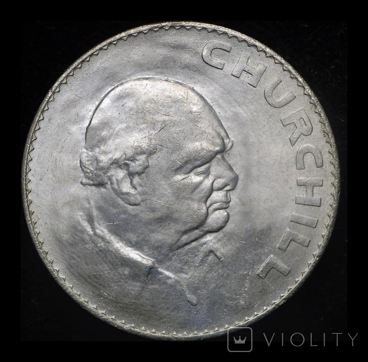Великобритания крона 1965  Черчиль, фото №2