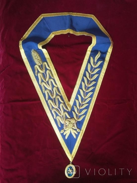 Масонская нагрудная лента высокого ранга Великой Ложи