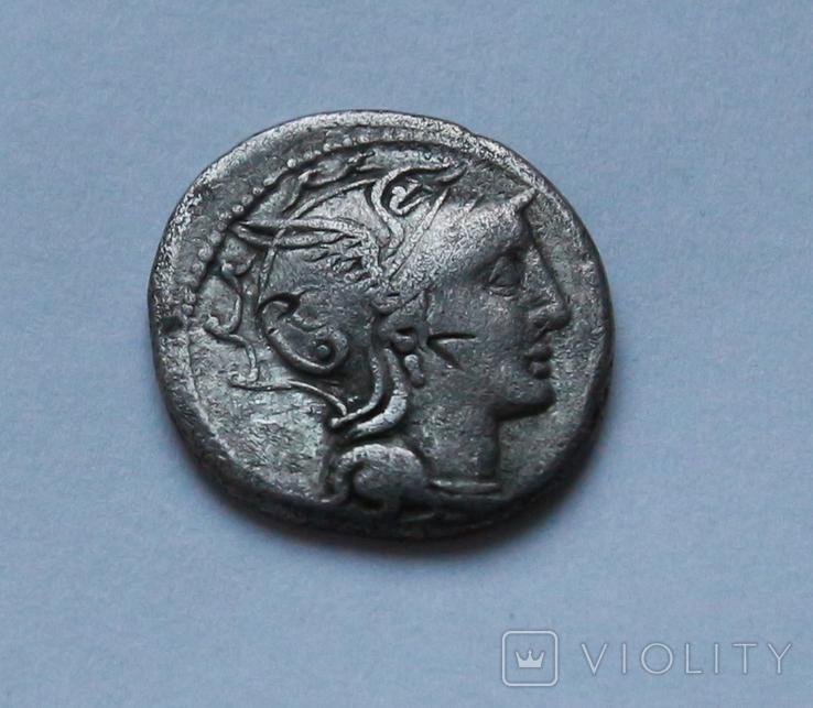 Денарий Республика 110-109 год до н.э. Серебро 3.55 г