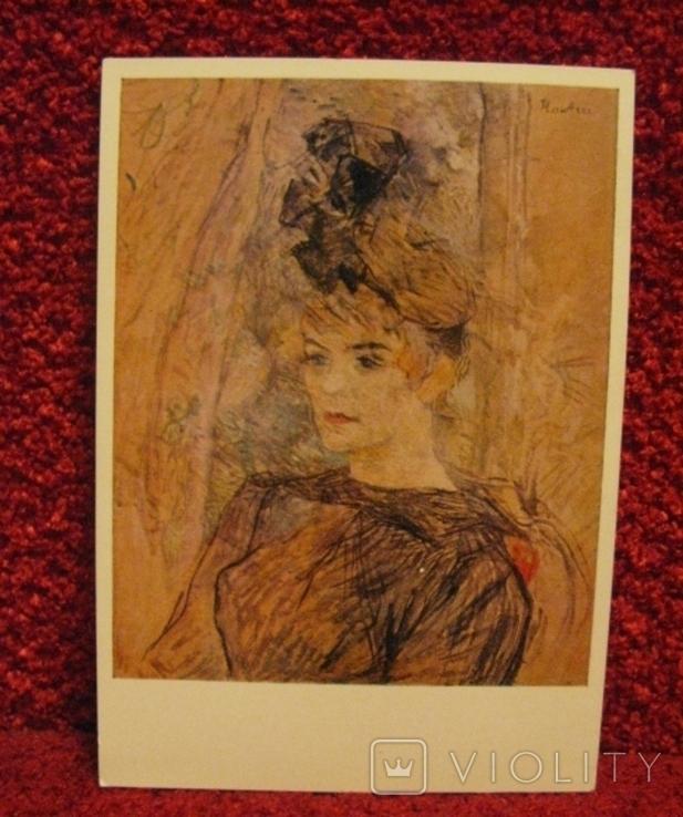 Открытка Германия, немецкая, Toulouse-Lautrec (Тулуз-Лотрек), 59г., фото №2