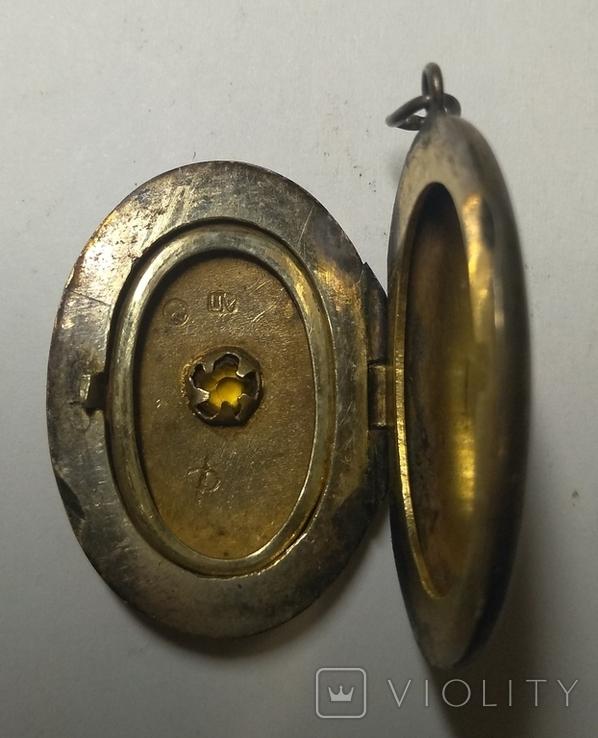 Кулон подвеска , серебро проба голова 875, фото №5
