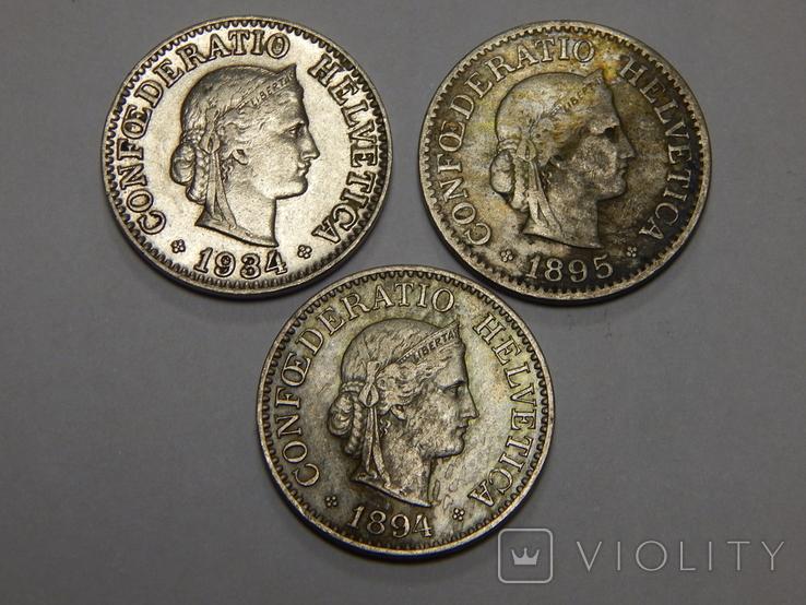 3 монеты по 10 рапанов, Швейцария, фото №3