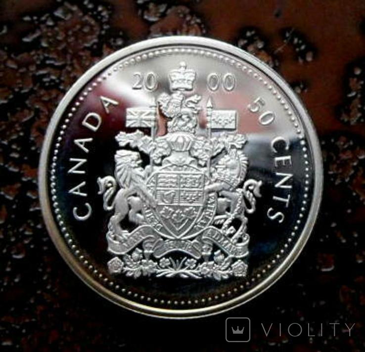 50 центов Канада 2000 серебро, фото №5