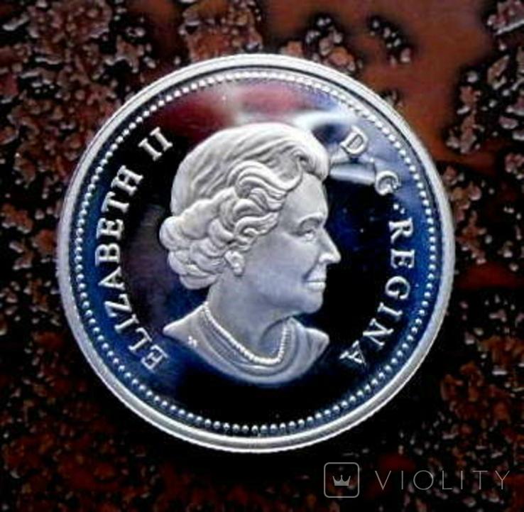 50 центов Канада 2004 серебро, фото №4