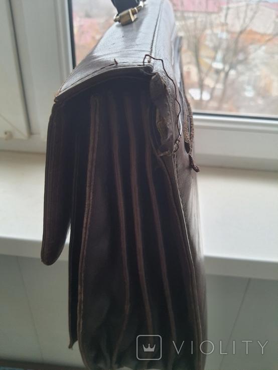 Портфель мужской Petek кожа, фото №3