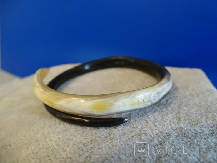 """Старенький браслет """"Змейка"""" из натуральной кости., фото №5"""