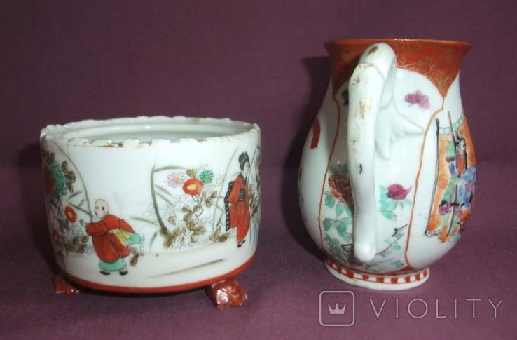 Чайник и сахарница Япония ручная роспись ХIXв. - начало XX в., фото №6