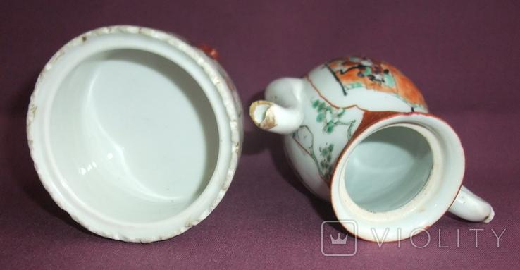 Чайник и сахарница Япония ручная роспись ХIXв. - начало XX в., фото №10