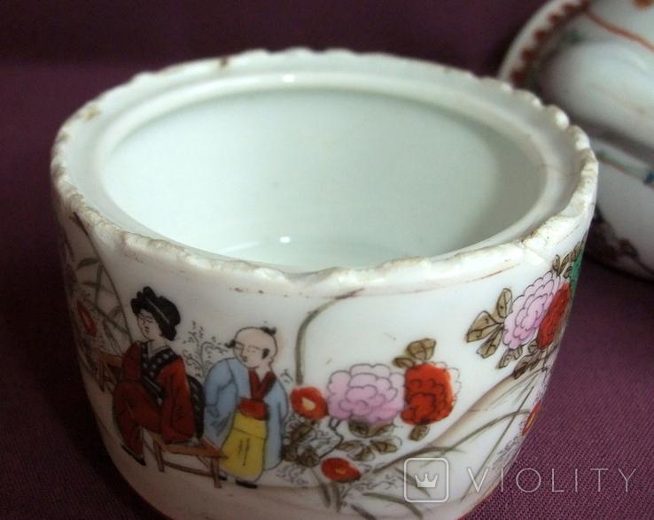Чайник и сахарница Япония ручная роспись ХIXв. - начало XX в., фото №12