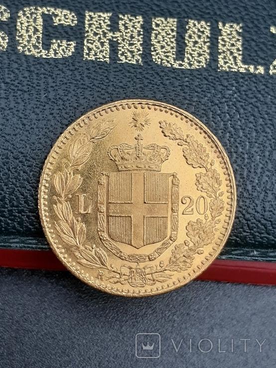 20 лир 1882. Италия. Золото., фото №3
