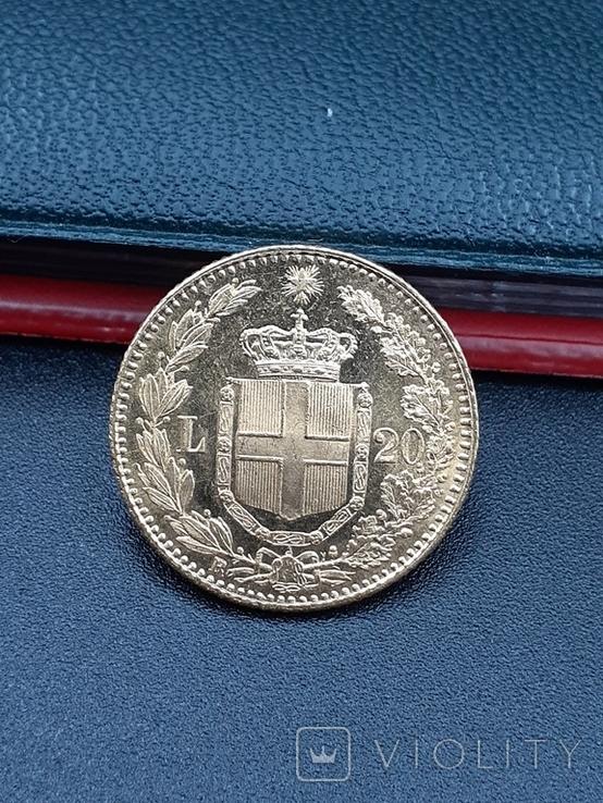 20 лир 1882. Италия. Золото., фото №4