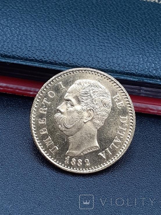 20 лир 1882. Италия. Золото., фото №2