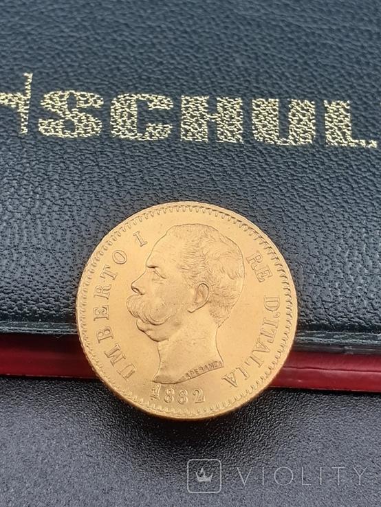 20 лир 1882. Италия. Золото., фото №6
