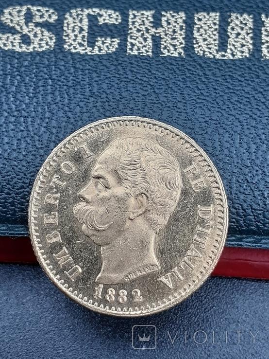 20 лир 1882. Италия. Золото., фото №7