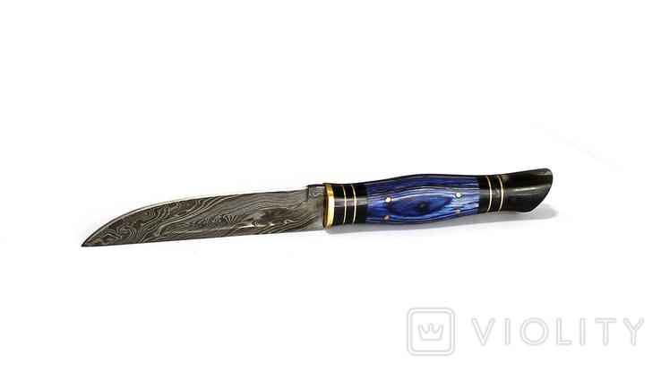 Нож охотничьий. Дамасская сталь. 59, фото №5