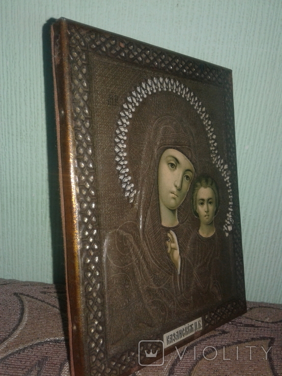 Икона оклад жакко казанская, фото №2