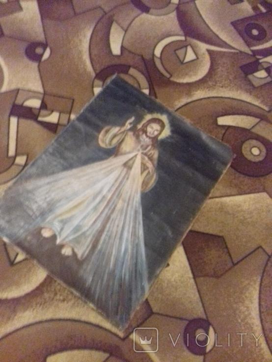 Старинна ікона на полотні, фото №3