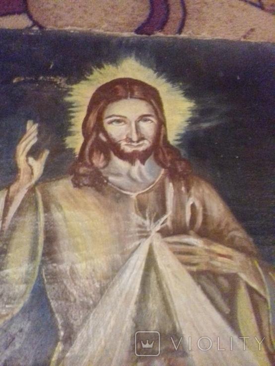 Старинна ікона на полотні, фото №7