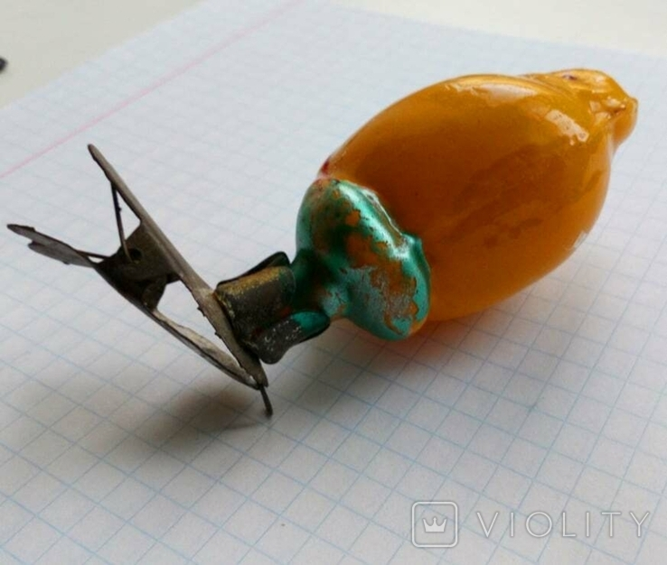 Елочная игрушка Цыпленок  СССР 1940 - 1950 г., фото №6