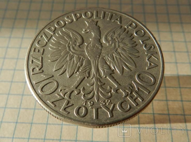 Польща 10 злотих, 1932 Без мітки монетного двору - Лондон, фото №2