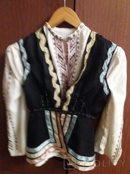 Сорочка для дівчинки вишивка та камизелька ручна робота., фото №3