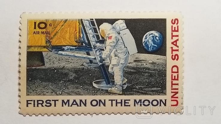 Марка США первая высадка человека на Луне, фото №2