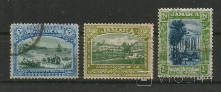 Британские колонии. Ямайка, виды, лот 3 шт.
