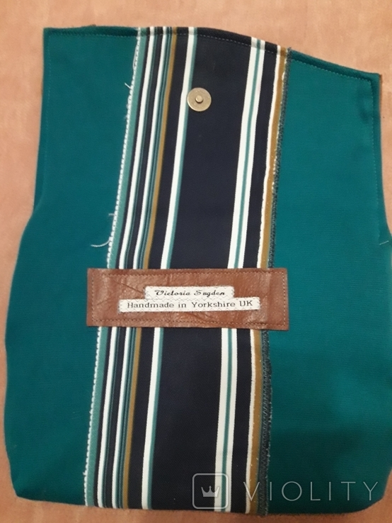 Кожаный клатч Victoria Sugden Йоркшир Великобритания. Ручная работа, фото №7