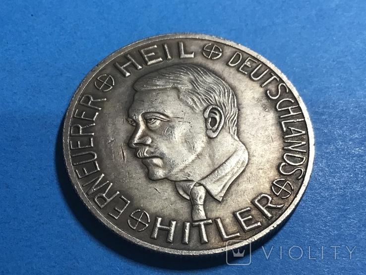 Германия. 1 Марка  Третий Рейх. Адольф Гитлер.копия, фото №2