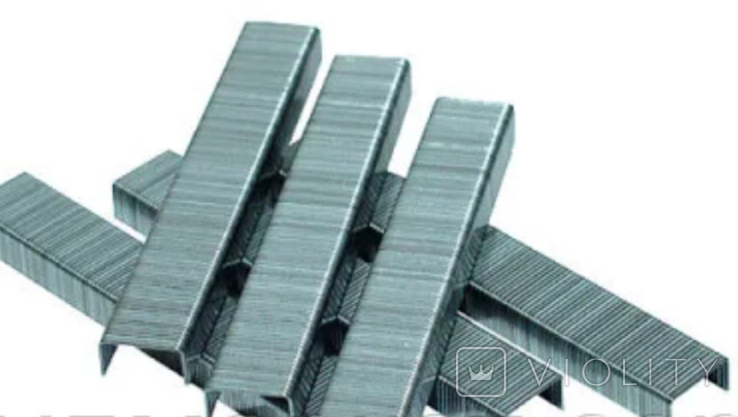 Скобы для степлера 1000 шт., тип J/8 мм, фото №3
