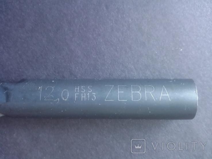 Сверло немецкое 12 мм Wurth Zebra HSS новое, фото №8