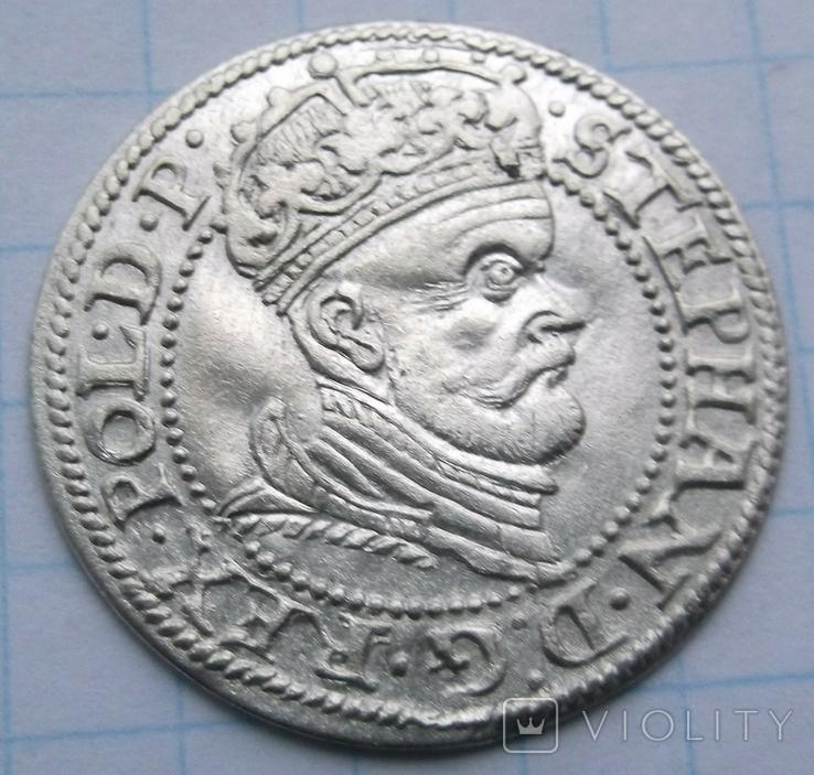 Грош,Стефан Баторій 1578 р монетний двір Гданськ R2