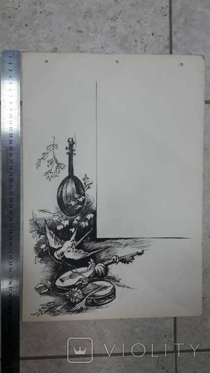Малюнок на козацьку тему №1 туш, фото №4