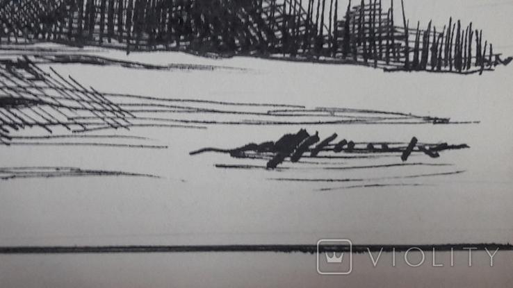 Малюнок на козацьку тему №2 туш,  підпис, фото №6