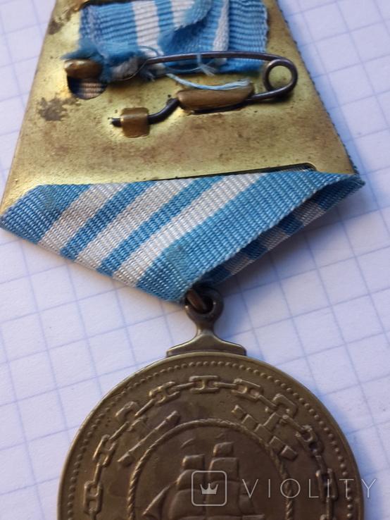 Медаль Нахимова старая копия Гиренко номер 8050, фото №7