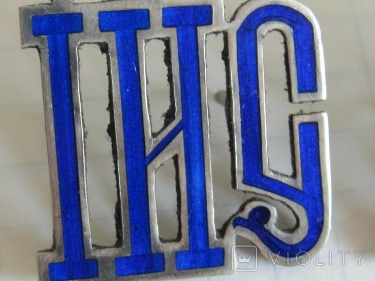 Серебрянные вставки с эмалями ІИС ХС на оклад, фото №5