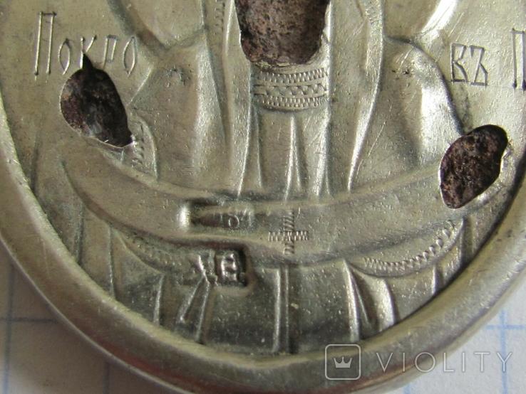 Иконка Покрова серебро 84, фото №4