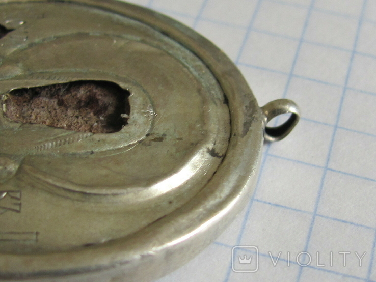 Иконка Покрова серебро 84, фото №5