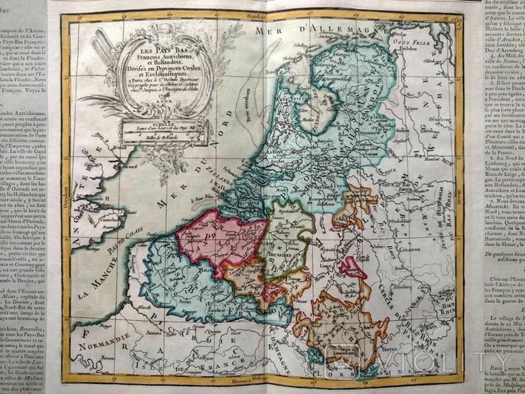 1798 Голландия Бельгия Деснос (большая карта 52х33 Верже) СерияАнтик
