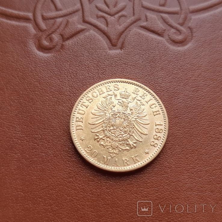 Золото. 20 марок 1888 г. Пруссия, фото №5