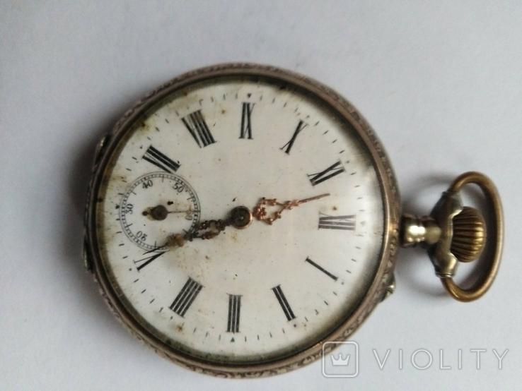 Часы карманные серебряные 800проба