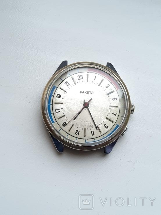 Часы Ракета 24 часа.