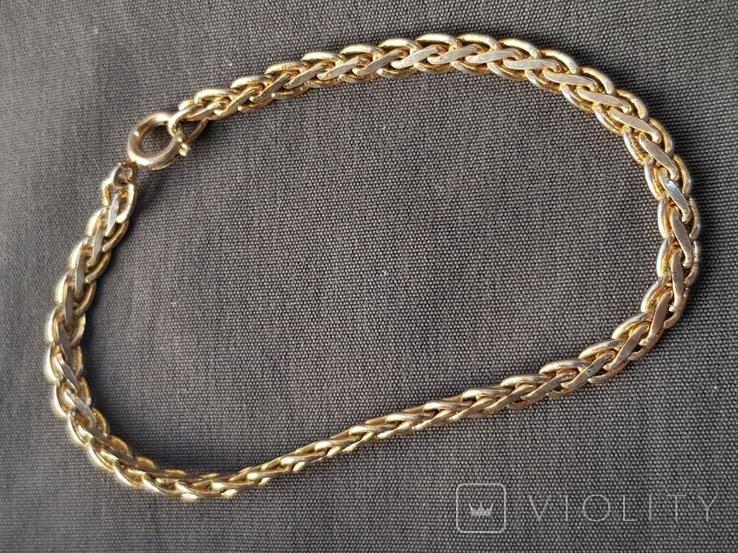 Браслет плоская цепь, фото №3