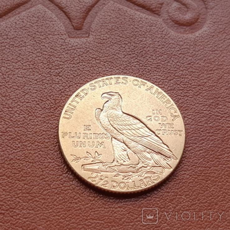 2 1/2  доллара  США 1912 г. с изображением индейца., фото №7