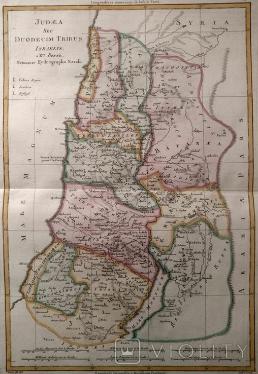 1787 Палестина иудаика (карта 32х47 Верже) СерияАнтик