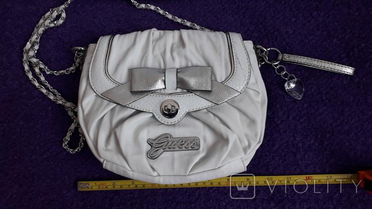Сумочка Guess білого кольору, фото №2