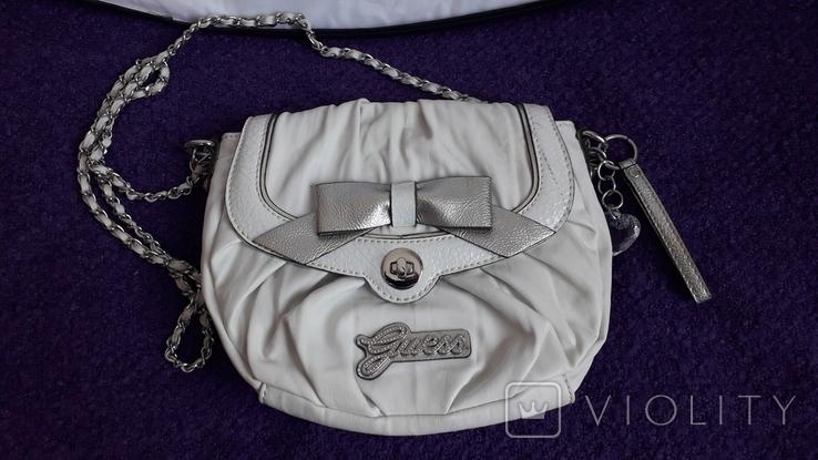 Сумочка Guess білого кольору, фото №3