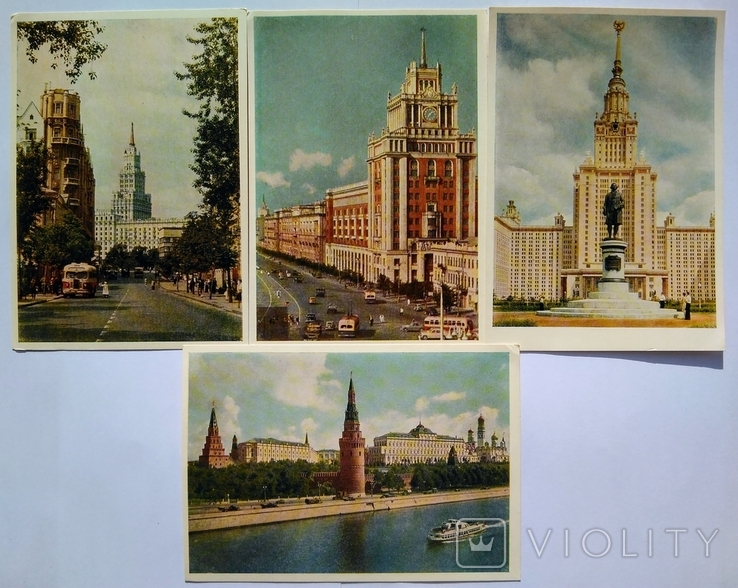 "Комплект открыток "" Москва "" 1956 год 24 штуки, фото №11"