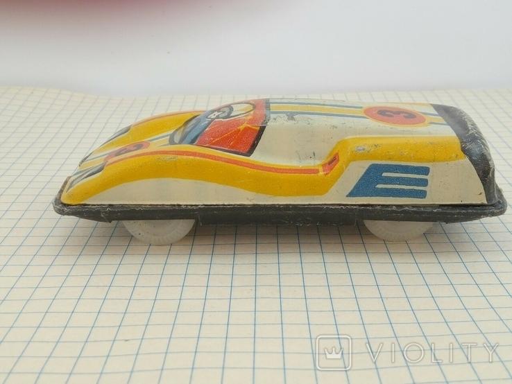 Игрушка СССР гоночная машинка, фото №4